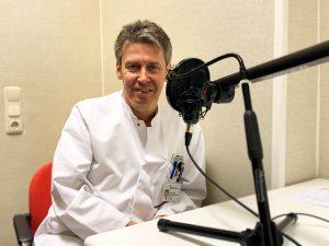 Prof. Dr. Maschke beim Podcast